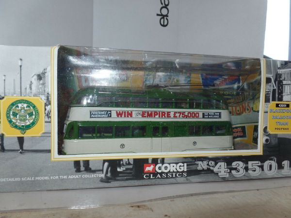 Corgi 43501 English Electric Balloon Tram Blackpool  Post War Empire Pools MIMB